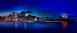 Navy Pier Fireworks From Adler Planetarium