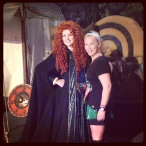 Thanks, Merida for the archery lesson!